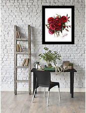 East Urban Home 'Deep Red Burgundy Roses' Framed Print of Painting