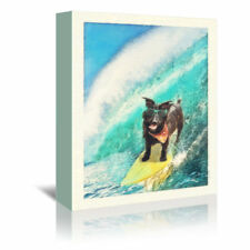 East Urban Home 'Surf Hound' by Noah Bay Graphic Art on Wrapped Canvas