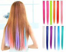 Straight Synthetic Color Party Cosplay Highlight Clip in Hair Extension lot of 5