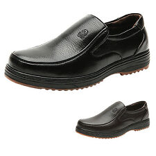 hana Mens Comfort slip ons Leather formal business Loafers Boat Shoes Plus Size