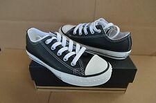 New in Box Converse Youth CT Ox  All Star Black / White Leather Shoes 609057C