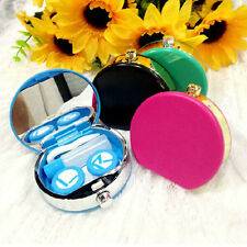 Portable Contact Lens Case Travel Kit Mirror Contact Lenses Box Container