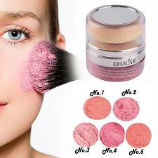 Pro Women Natural 3D Mineral Cheek Blush Blusher Powder Cosmetic With Sponge JJ