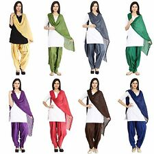 Women's Patiala Salwar Dupatta Set Free Size Cotton Ladies Salwar Pants & Scarf