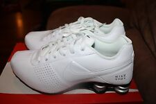 NIKE MEN'S SHOX DELIVER RUNNING SHOES SNEAKERS WHITE METALLIC SILVER 317547 109