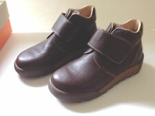 Naturino Italian Kids Brown Leather Velcro Kids Shoes Boots Quality Discount NIB