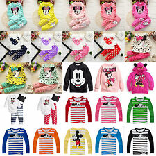 Baby Kids Girls Boys Minnie Mickey Mouse Hoodies Tops Jacket Clothes Outfits Set