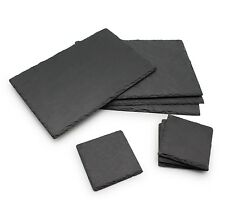 16pc Dining Table Serving Set Rustic Natural Slate Board 8 Placemat 8 Coaster d