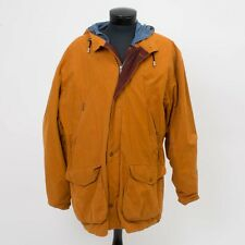 Vintage Territory Ahead Men's XL Field Jacket Hooded Insulated Bronze Blue Liner