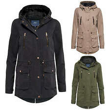 Ladies Light Jacket Women's Transitional Parka Short Coat