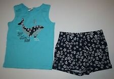New Gymboree Outlet 2 Pc Whale Floral Outfit Set Tank Top Short NWT 5 6 10 Girls