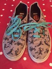 Vans Off the Wall Trainers Shoes Children Size 3 US/Size 2.5 UK Phineas & Ferb