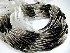 AAA Quality Natural Smoky Quartz Rondelle Faceted 2mm Beads Strand 13 inch