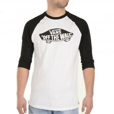 Vans Men's Off The Wall Raglan Shirt 3/4 sleeves T - Tee white Logo VN000Z6NWHT