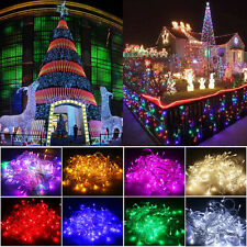 10M 100LED Christmas Garden Outdoor Indoor String Fairy Lights Lamps Waterproof
