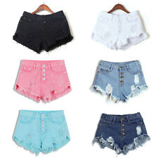 Summer High Waisted Washed Ripped Hole Short Mini Jeans Denim Pants Shorts Gilrs