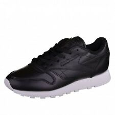 Reebok Classic Leather Pearlized Trainers Shoes black Leather Classics Retro