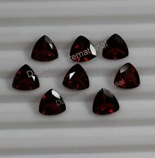 Natural Red Garnet Faceted Cut Trillion 3mm To 8mm VS Quality Loose Gemstone