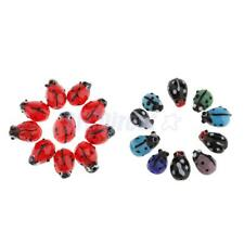 10x Glass Spacer Loose Ladybug Beads fit Bracelet Earring Pendant Jewelry Charms