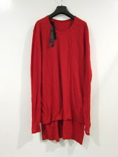 *NWT* BORIS BIDJAN SABERI OBJECT DYED DOUBLE LAYER LONGSLEEVE (RED, MEDIUM)