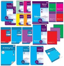 NOTEBOOKS - Plain Ruled Paper Refill Memo Pads Jotters - Back to School {Anker}