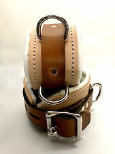 Locking Leather wrist or ankle cuffs bondage w/ connector Medical look