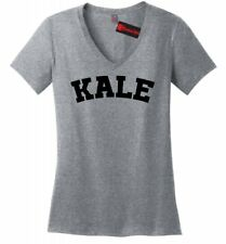 Kale Ladies V-Neck T Shirt Funny University Food Vegan Vegetarian Health Tee Z5
