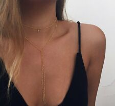 Women Charm Gold/Silver Plated Beaded Bell Chain Choker Pendant Necklace Jewelry