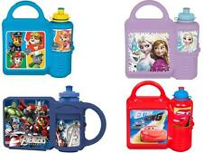 Childrens Lunch box & Sport Bottle Combo Set Childrens School Trip Nursery New