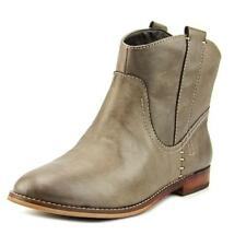 ShoeMint Gemma Women  Round Toe Leather Brown Ankle Boot