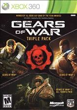 Gears of War Triple Pack (Microsoft Xbox 360, 2011) COMPLETE