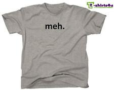 MEH Funny Geek Nerd Retro College Cool Party Tee - Mens T-Shirt - NEW - Grey
