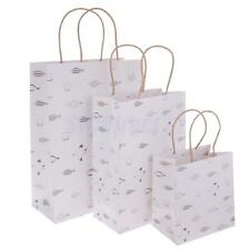 5pcs Paper Gift Bag Fish Birds Pattern Carry Bag Baby Shower Wedding Party Favor