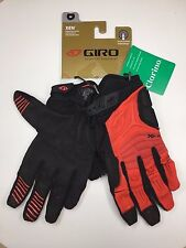 GIRO 2016 XEN GLOVES-GLOWING RED/BLACK - LEAD/GUM NEW