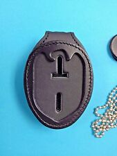 NCIS CLIP ON BADGE HOLDER , LEATHER