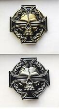 Red Iron Cross Celtic Keltic Irish  Skull Belt Buckle Mens Western Southwestern