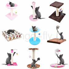 Cat Tree Kitten Scratcher Scratch Post Play Toy Scratching Activity Centre Climb