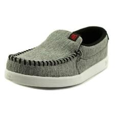 DC Shoes Villain Youth  Round Toe Leather Gray Loafer