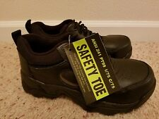 Mens SAFETY TOE FOOTWEAR ANSI Z41 PT99 Black Laced Steel Toe Shoes ML2000 ~ New