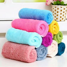 5/10/20Pcs Bamboo Fiber Dish Wash Cloth Cleaning Towel Kitchen Assted Colors AS