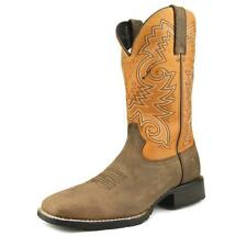 """Durango Mustang 12"""" Western Men W Square Toe Leather Brown Western Boot"""