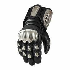 Icon Timax Mens Long Leather Gloves Black
