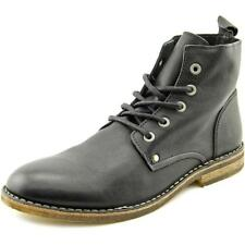 Rogue Gregory Men  Round Toe Leather Black Boot