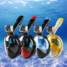 2nd Version Full Face Snorkeling Snorkel Mask Diving Goggles Pipe For GoPro Cam