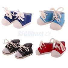 Fashion Doll Canvas Shoes Sneakers Casual Shoes for 18'' AG American Girl Doll