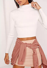 Missguided basic roll neck long sleeve crop jumper (M31/1)