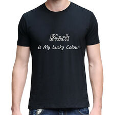 Lucky Color Letter Summer Short Sleeve O-Neck T-Shirt Soft Lover Top Creative