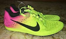 NIKE Zoom Matumbo 3 Volt Yellow Pink Mid Distance Track Spikes Shoes Mens Sz 6