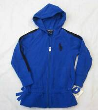 RALPH LAUREN girls 4T royal blue big pony zip fleece hoodie sweatshirt
