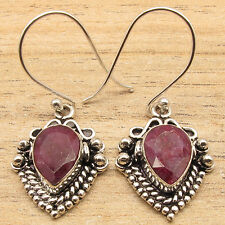 Original Gemstone Earrings, 925 Sterling Silver Plated ANTIQUE STYLE Jewelry